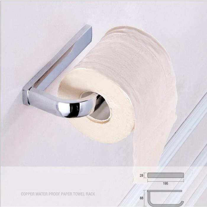 Chrome Effet Porte-rouleaux de papier toilette papier tissu salle de bain distributeur mural
