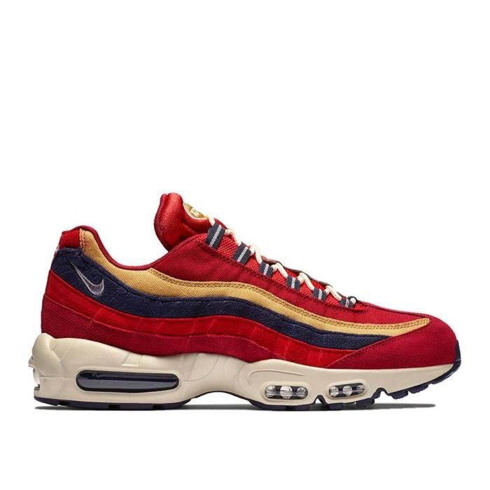 92be320851db Basket mode Nike Air Max 95 Prm - 538416603 Rouge Rouge - Achat ...