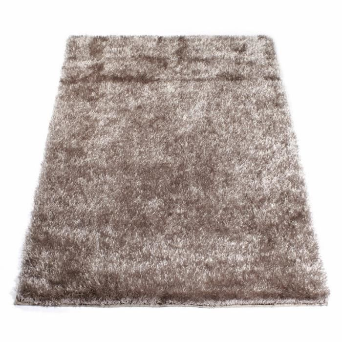 tapis shaggy taupe 160 x 230 cm achat vente couverture plaid cdiscount. Black Bedroom Furniture Sets. Home Design Ideas