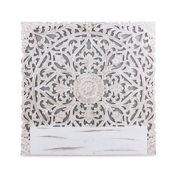 T/ête De Lit Design en Simili belma 140cm Blanc Paris Prix