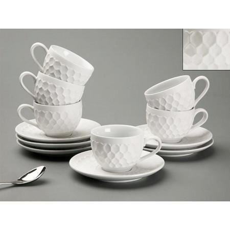 coffret 6 tasses caf blanche chlo achat vente service th caf cdiscount. Black Bedroom Furniture Sets. Home Design Ideas
