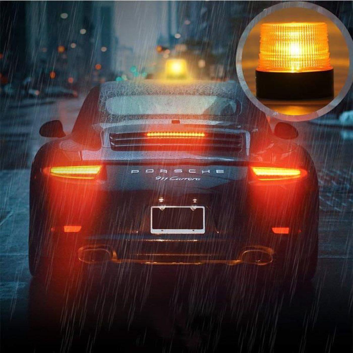Indicateurs lat/éraux de feu de signalisation /à 6 DEL de la remorque de camion de voiture automatique Voyant de la lampe 12V Super Bright Light Consommation de puissance faible /étanche