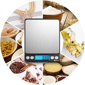 BALANCE ÉLECTRONIQUE Balance de cuisine électronique, 500g - 0.01g, 6 U