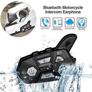 INTERCOM MOTO Nouveau Casque Moto Écouteurs R9 1500M Bluetooth I