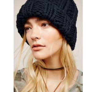 BONNET - CAGOULE Bonnet d'hiver Chaud en Laine Tricoté Pour Femme N