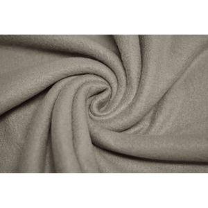 TISSU Tissu Polaire Taupe -Au Mètre
