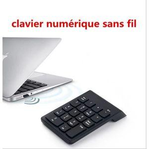 PAVÉ NUMÉRIQUE 2.4G clavier Numérique Ultra Slim sans fil 18 clés