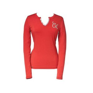 T-SHIRT Tee-shirt femme manches longues rouge Taille L CAT
