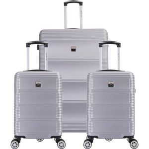 SET DE VALISES FRANCE BAG Set de  3 Valises ABS Argent
