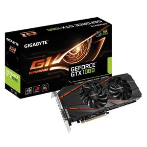 CARTE GRAPHIQUE INTERNE Carte graphique GeForce GTX 1060 G1 Gaming