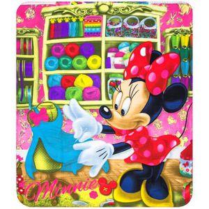 COUVERTURE - PLAID Plaid polaire Minnie Mouse couverture enfant coutu