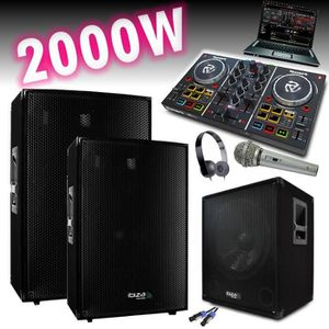 PACK SONO SONO AMPLIFIÉ 2000W + CONTROLEUR PARTY MIX NUMARK