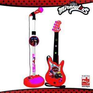 INSTRUMENT DE MUSIQUE MIRACULOUS/LADYBAG Guitare et microphone - 4 corde