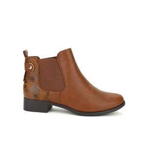 BOTTINE bottine - boots, Bottines Marron Chaussures Femme,