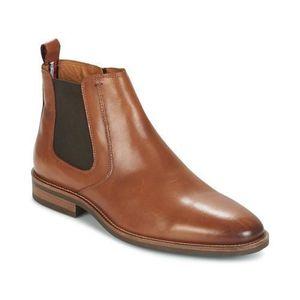 BOTTINE Boots homme cuir Tommy Hilfiger (cognac) nouveau