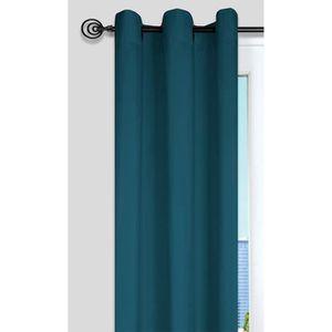 RIDEAU Rideau Nelson 100% Polyester 135 x 240 cm Bleu Can