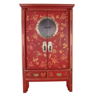 meuble chinois rouge achat vente meuble chinois rouge pas cher soldes cdiscount. Black Bedroom Furniture Sets. Home Design Ideas