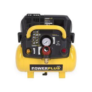 COMPRESSEUR POWERPLUS Compresseur - 6 L - 8 bar - 1,5HP - 1100