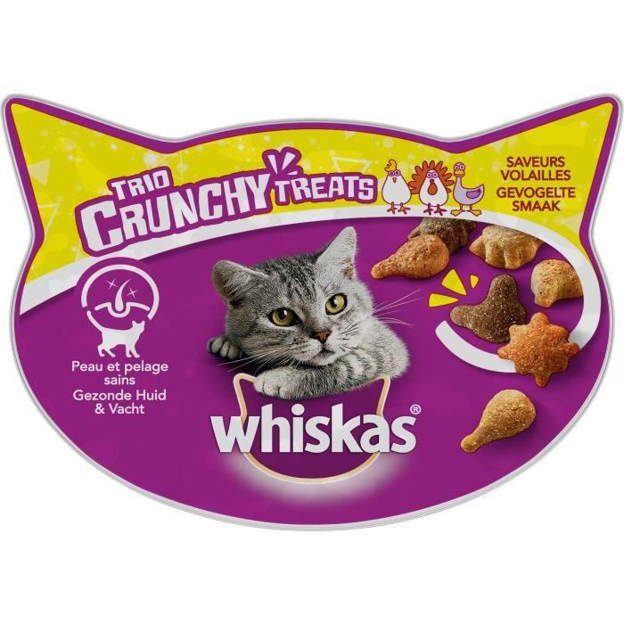 WHISKAS Trio crunchy friandises - Saveurs volailles - Pour chat - 55 g