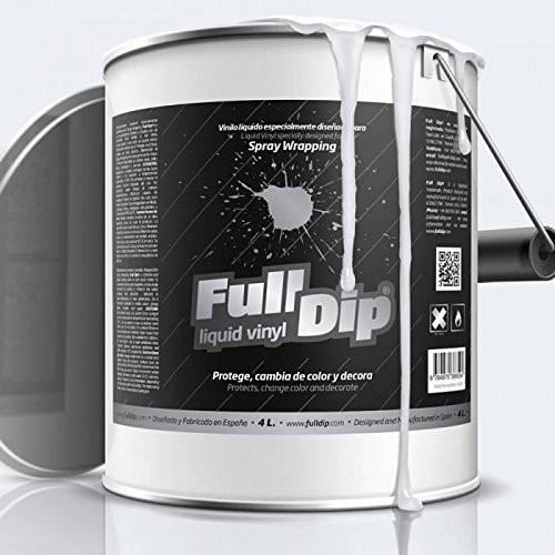 Bidon peinture élastomère en spray Full dip 4L - Finition transparent mat
