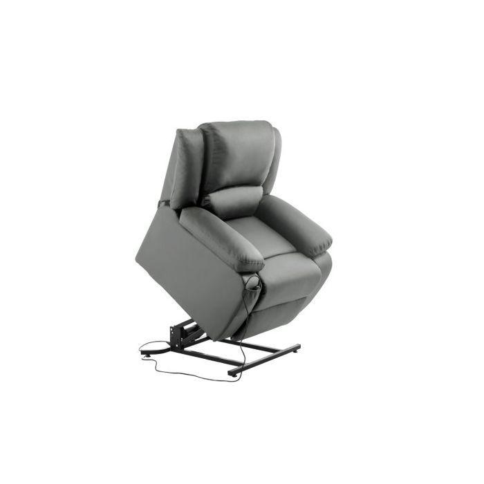 Fauteuil de Relaxation Releveur électrique 1 place en Simili DETENTE - Couleur - Gris