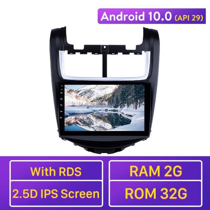 9 -Android 10.0 Wifi 2Din Navigation GPS pour 2014 Chevy Chevrolet Aveo à écran tactile lecteur multimédia unité principale autoradi