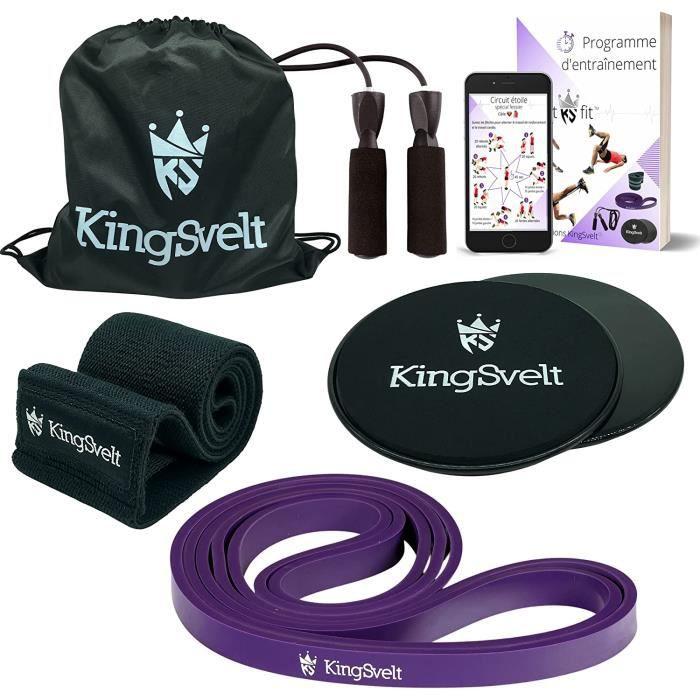Kit fitness. Idal sport maison materiel et accessoire fitness elastique musculation bande de rsistance corde sauter disques [12163]
