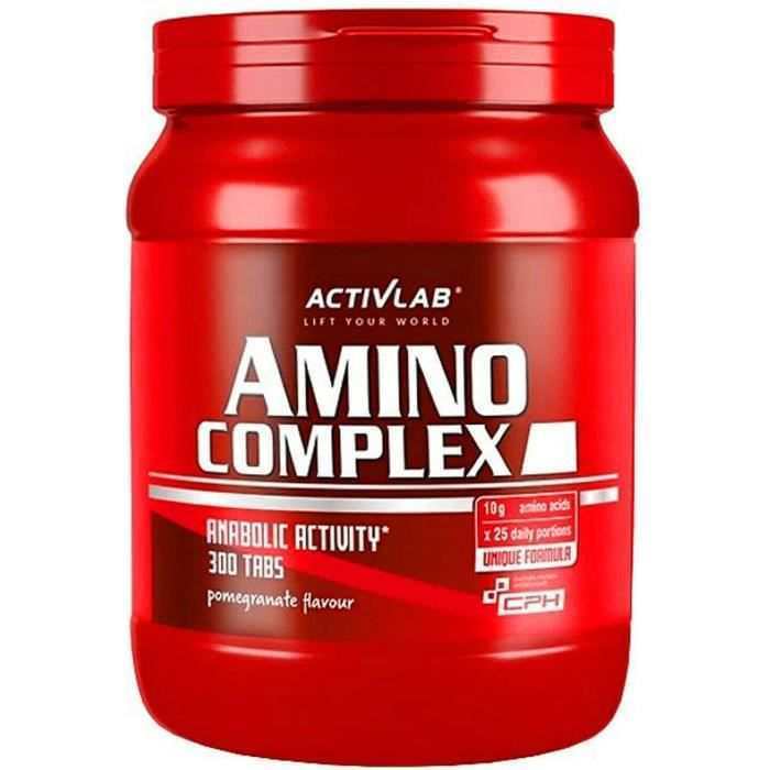 amino complex 300 comprimés à croquer bcaa + à spectre complet dacides aminés essentiels l-glutamine anabolique + anticata 470