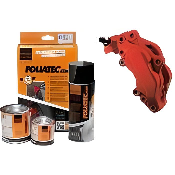 Kit peinture étriers de freins Foliatec ROUGE MAT