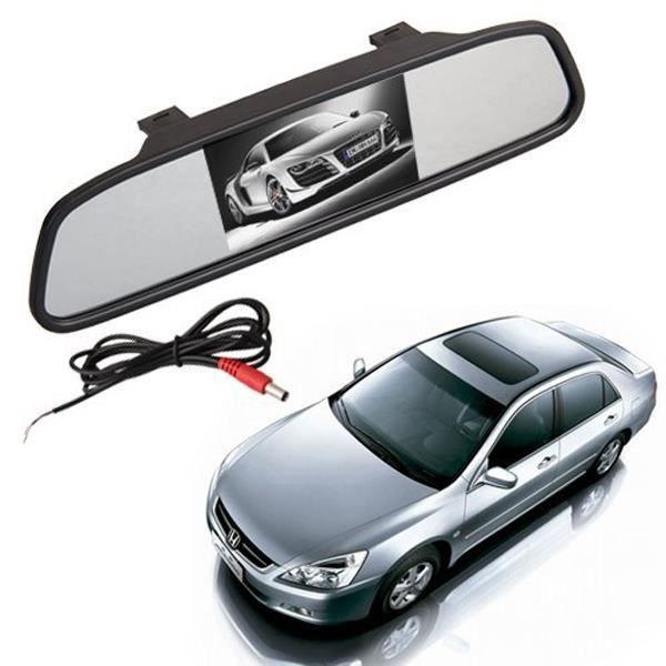 4.3 pouces TFT LCD moniteur d'affichage Auto voiture véhicule rétroviseur avec entrée vidéo RADAR DE RECUL - CAMERA DE RECUL