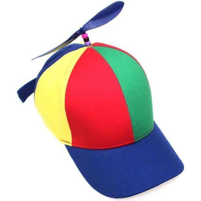 1pc Casquette de baseball avec hélice drôle Hélice Chapeau Creative Airscrew Chapeau multi-couleurs Casquette