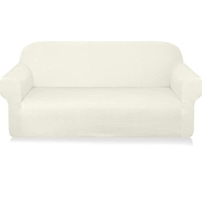 Housse de canapé universelle tout compris élastique, couverture complète, antidérapante, siège simple blanc
