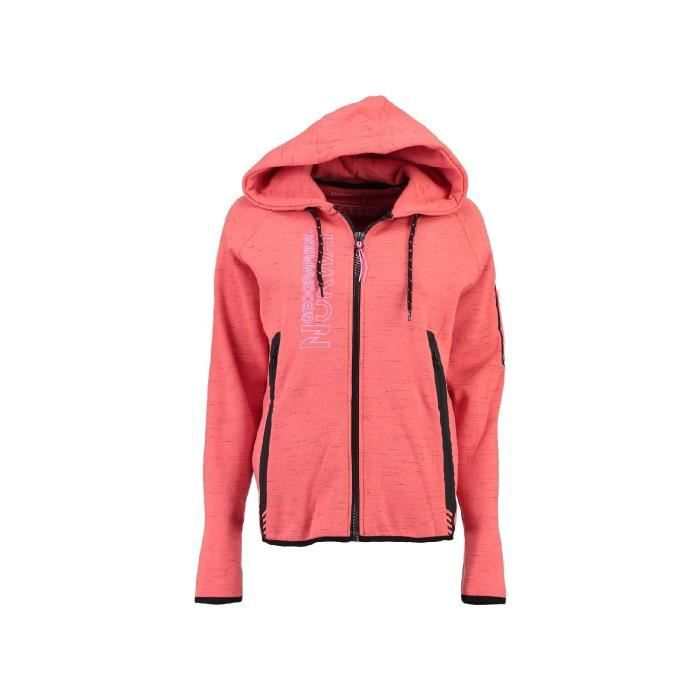 Sweat Femme Geographical Norway Getincelle Orange
