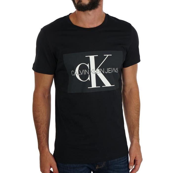 T-Shirt Calvin Klein noir pour hommes. J30J307842 099.