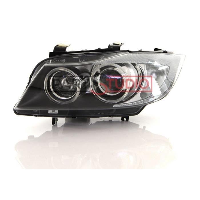 Optique, phare avant gauche Bi-Xenon éclair virage, BMW Série 3 E90 de 03/05 à 10/08