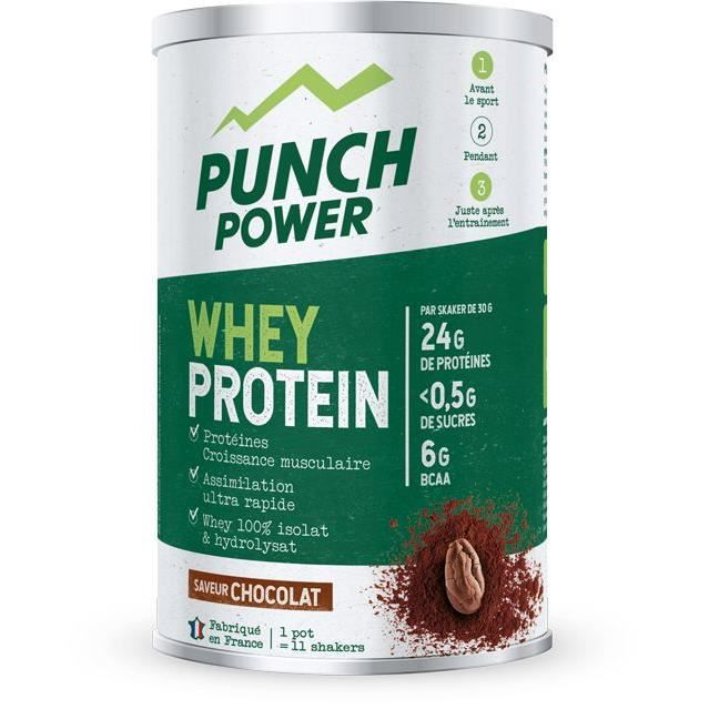PUNCH POWER Whey Protein Chocolat - Pot 350 g