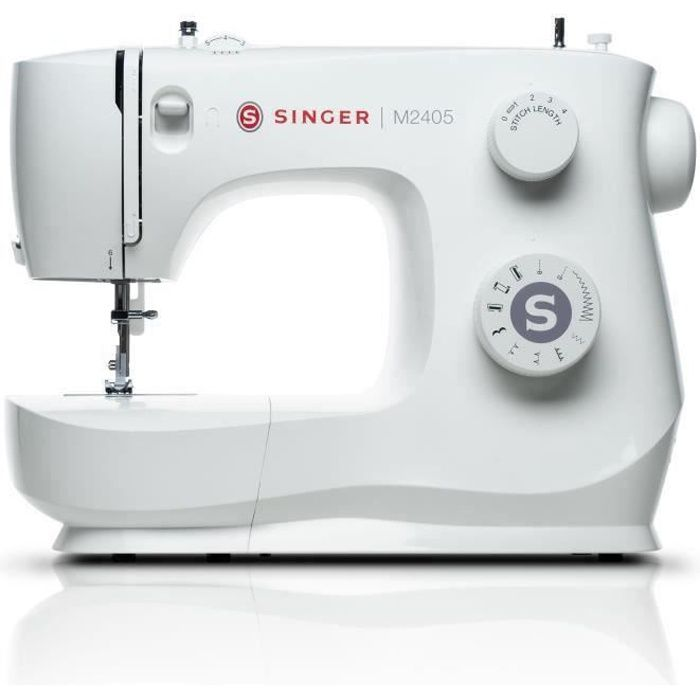 SINGER M2405 Machine à coudre - 8 programmes de points - 70W