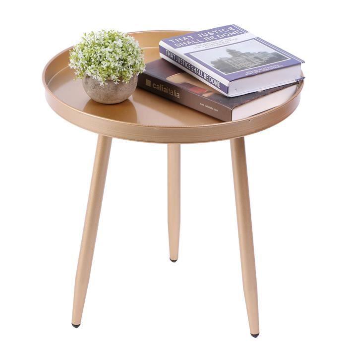 Table basse ronde en métal simple moderne de table d'appoint pour le salon à l'intérieur à l'extérieur-MEY