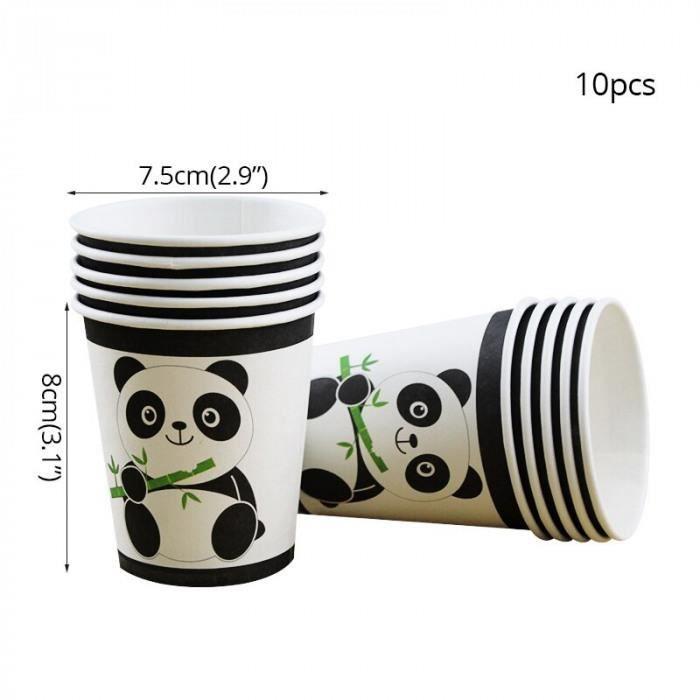 BANDEROLE - BANNIÈRE Version cups - Dessin Animé Panda Fête Décoration