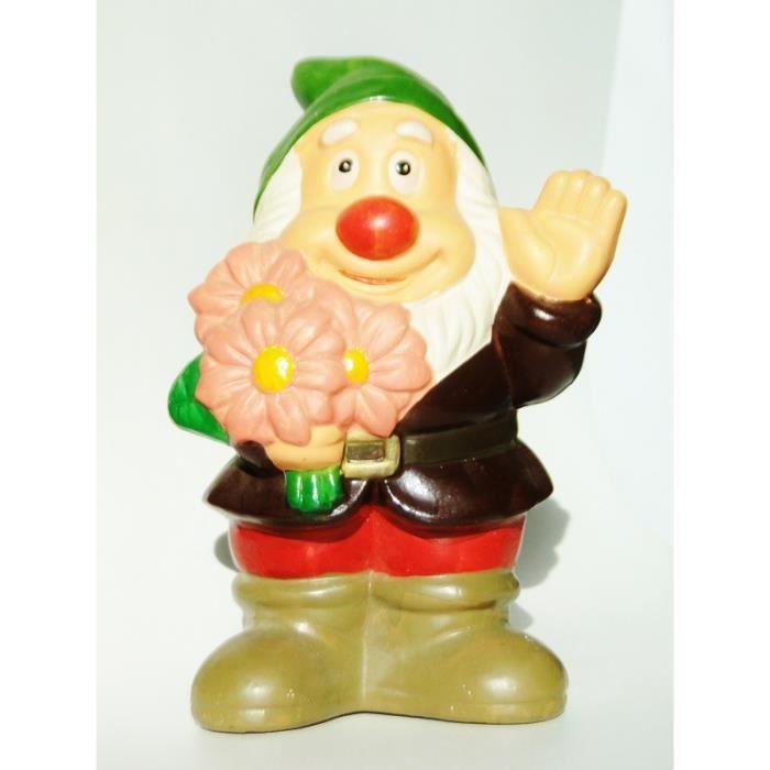 Nain de jardin bouquet de fleur tirelire 20cm de collection ...