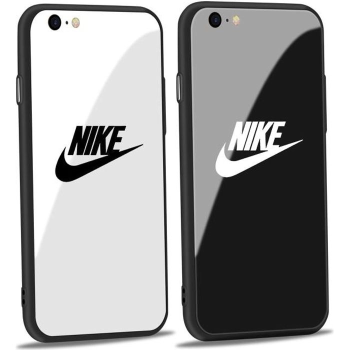 2pcs nike coque iphone 6 6s verre coque hedgeh