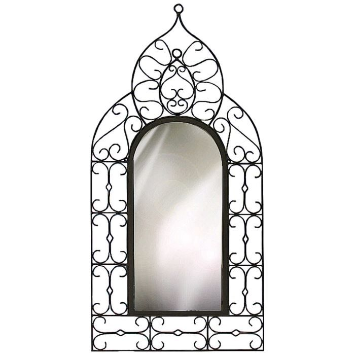 miroir arabesque fer forge achat vente miroir cdiscount. Black Bedroom Furniture Sets. Home Design Ideas
