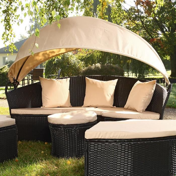canap de jardin rond modulable achat vente salon de. Black Bedroom Furniture Sets. Home Design Ideas