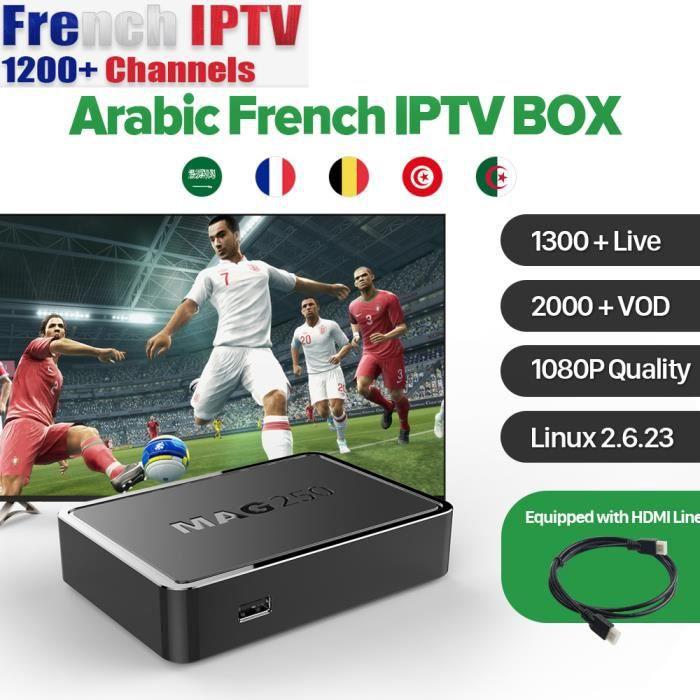 HD Mag 250 Set boîte Live Tv ChannelsFV 12 mois qhdtv IPTV abonnement 1300