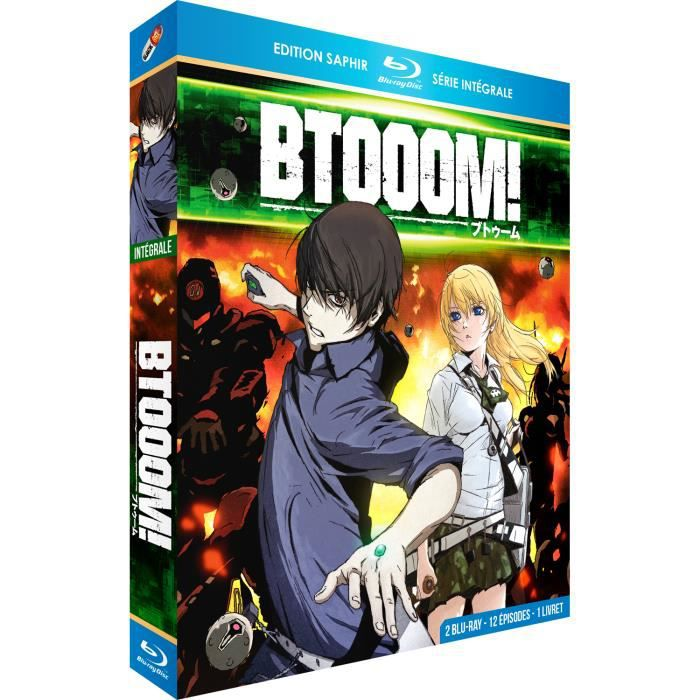 BLU-RAY MANGA Btooom! - Intégrale - Edition Saphir [2 Blu-ray] +