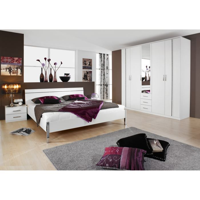 Chambre compl te design trophee 160 x 200 cm achat for Chambres adultes completes design
