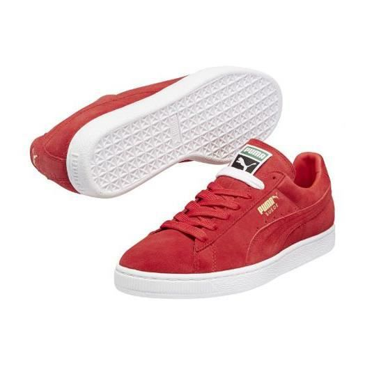 chaussures puma suede high risk classic basket rouge achat vente basket soldes cdiscount. Black Bedroom Furniture Sets. Home Design Ideas
