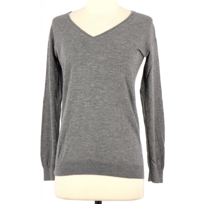 Pull THE KOOPLES XS Gris Gris Achat Vente pull Cdiscount