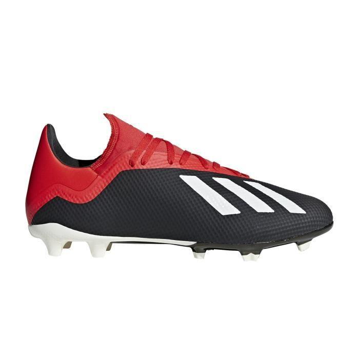 Chaussures football adidas X 18.3 FG Noir Rouge