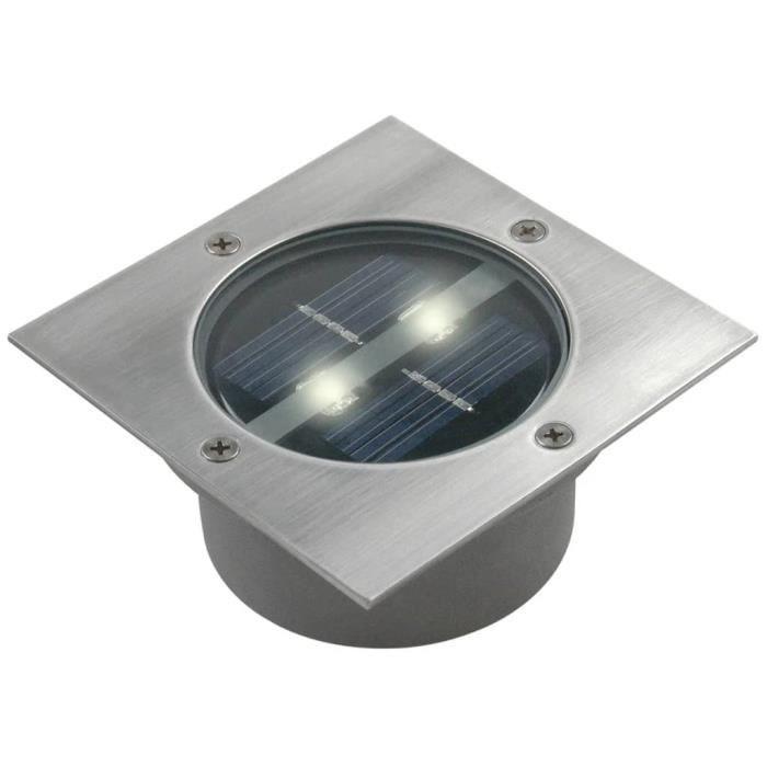 BALISE - BORNE SOLAIRE  RANEX Spot solaire LED Carlo - Carré encastrable -
